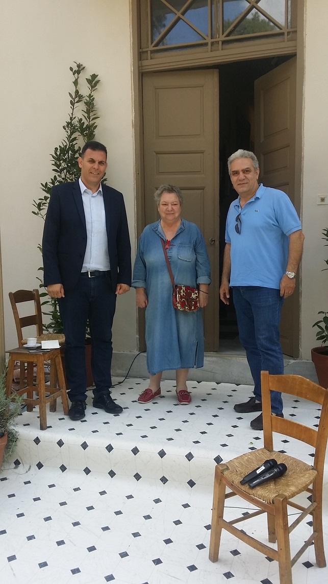 Tο ίδρυμα Γιάννη Τσαρούχη στο Μαρούσι επισκέφτηκε ο Αντιπεριφερειάρχης Βόρειου Τομέα Αθηνών, Γιώργος Καραμέρος, στο πλαίσιο επαφών με πολιτιστικούς φορείς που δραστηριοποιούνται στη βόρεια Αθήνα.