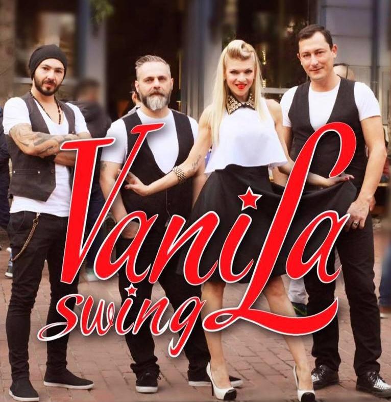 """Τη Δευτέρα 4 Σεπτεμβρίου 2017, ώρα 21:00, παρουσιάζεται στο θέατρο """"Αλίκη Βουγιουκλάκη"""" (Μεταμόρφωση Σωτήρος & Υψηλάντου, Άνω Βριλήσσια) η μουσική παράσταση VANILLA SWING."""