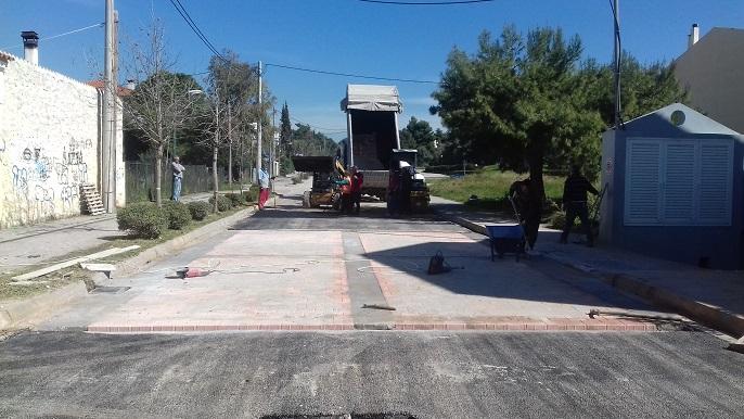 Ολοκληρώθηκε η διαδικασία ανακατασκευής του τμήματος της οδού Εθνικής Αντιστάσεως από την Ανδρούτσου έως και τη Σαμοθράκης, στη Νέα Ερυθραία.