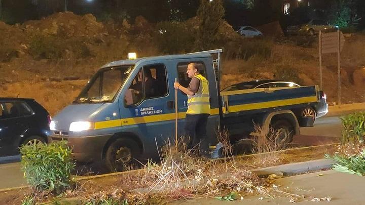 Χθες το βράδυ οι εργαζόμενοι στην Πολιτική Προστασία και την Υπηρεσία Πρασίνου του Δήμου Βριλησσίων το... ξενύχτησαν για τα καλά!