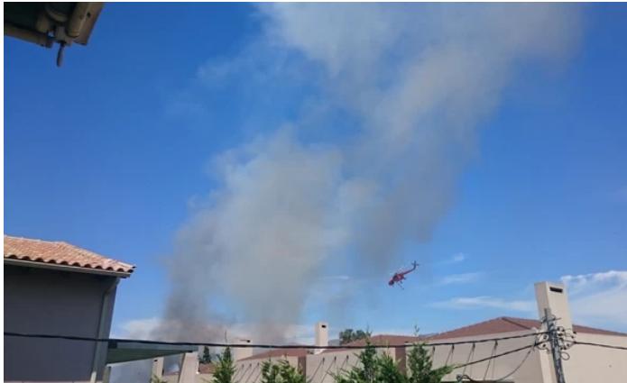 Φωτιά ξέσπασε σήμερα περίπου στις 12 το μεσημέρι στην περιοχή της Νέας Κηφισιάς και συγκεκριμένα στη γέφυρα Καλυφτάκη.